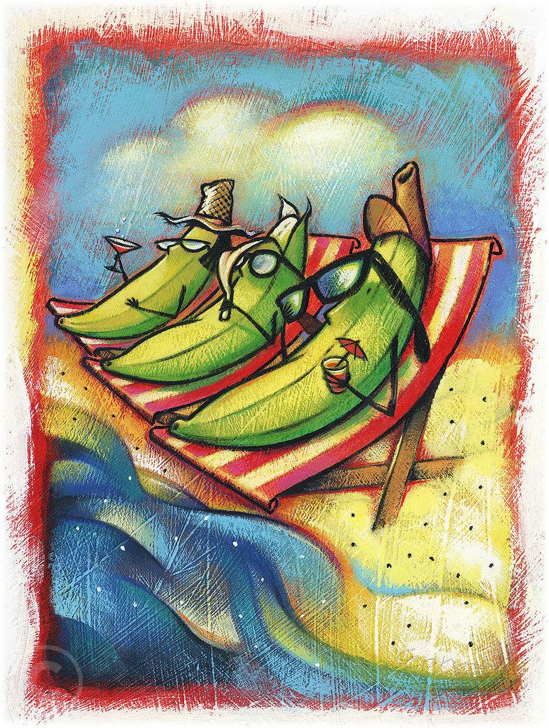 Artificially ripened bananas