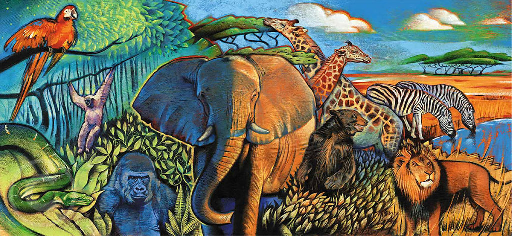 Animals of the zoo